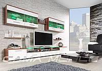 Мебельная стенка Cama I слива / белый глянец