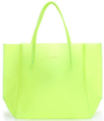 Модная силиконовая сумка POOLPARTY Gossip soho-gossip-green салатовая