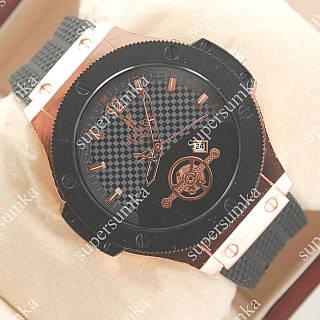 Кварцевые наручные часы Hublot Geneve Black/Pink gold 1206