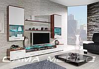 Мебельная стенка Cama II слива / белый глянец