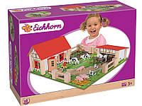 Игровой Набор Деревянная Ферма с Животными Eichhorn 4304