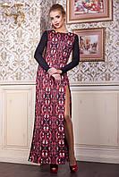 Длинное вечернее платье с высоким разрезом Рубины