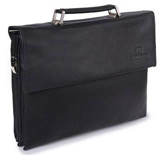 Строгая мужская сумка папка из искусственной кожи Bretton F116-6 black (черный)