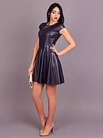 Стильное женское платье из экокожи