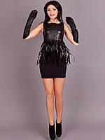 Очаровательное молодежное платье с имитацией бахрамы