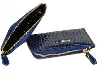 Стильная женская ключница из искусственной кожи WKS-2 Rose-4 blue (синий)
