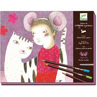 Набор для творчества DJECO Художественная мастерская (DJ08611) Набор для малювання, кольоровий папір