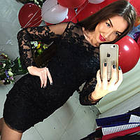 Эксклюзивная коллекция! Черное гипюровое платье