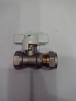 Кран шаровый для металлопластиковой трубы 20*1/2 внутренняя  резьба