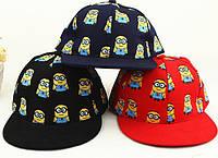 """Стильная детская бейсболка """"Миньоны"""" в стиле хип-хоп. Оригинальная кепка. Доступная цена. Код: КД59"""