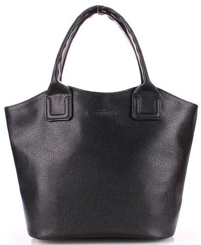 Красивая женская сумка из искусственной кожи holiday-safyan-black черная