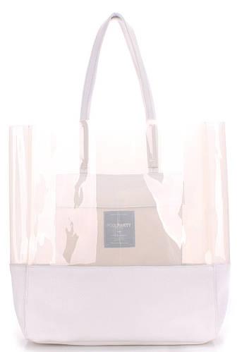 Стильная модная женская сумка из натуральной кожи PoolParty city-carrie-white белая