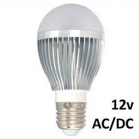 Светодиодные лампы 12 вольт Oasisled E27 5Вт (=60Вт) 12V AC/DC, груша теплый свет
