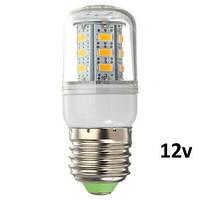 Светодиодные лампы 12 вольт Led кукуруза Oasisled е27 4w (=30W) 12V теплый свет