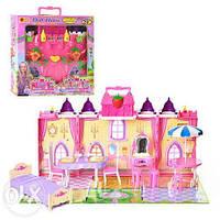 Замок, домик для кукол  мебель, жители, в коробке+ код  MMT-3140
