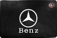 Силиконовый противоскользящий коврик в авто Мерседес (Mercedes)