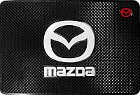 Силиконовый противоскользящий коврик в авто Мазда  (Mazda)