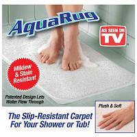 Впитывающий коврик для ванной комнаты AquaRug на присосках
