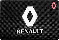 Силиконовый противоскользящий коврик в авто Рено (Renault)