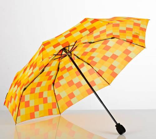 Превосходный механический складной зонт в клетку EuroSCHIRM Light Trek 3029-CWS3/SU18258 желтый