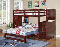 """Двухъярусная кровать с лестницей-комодом """"Полли"""""""