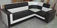 Кожаный кухонный уголок со спальным местом купить в Украине Киеве
