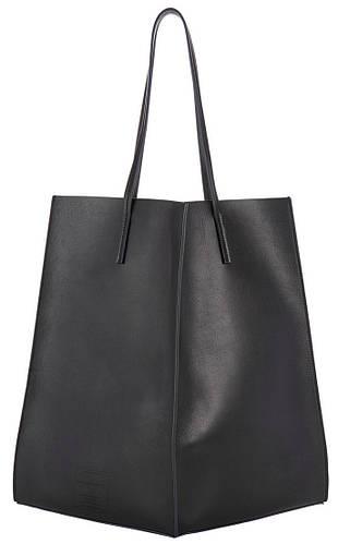 Стильная женская сумка из натуральной кожи POOLPARTY Milan poolparty-milan черная