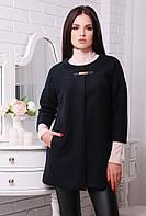 Пончо пальто черное 829