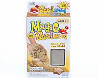 Кинетический песок для детского творчества Зоопарк 3предмета серый 500гр MS004G