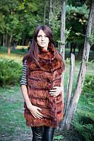 Модная женская жилетка с натурального меха лисицы