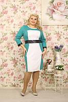 Женское элегантное стильное женское платье больших размеров размер 56