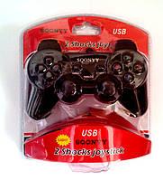 Джойстик USB для ПК PC GamePad DualShock вибро 862