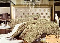 Семейное постельное белье 150х215х2 Goldentex сатин, леопардовый.