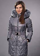 Стильное женское утепленное на силиконизированном синтепоне пальто