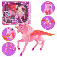 Детская лошадка музыкальная с крыльями 503: великолепная игрушка, красивый пегас