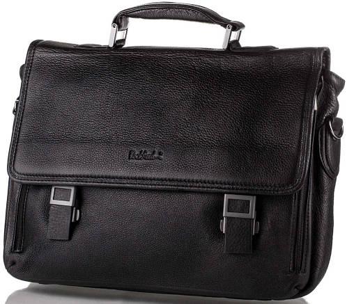 Стильный мужской кожаный портфель ROCKFELD (РОКФЕЛД) DS20-020492 черный
