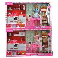 Кукла (Барби) Defa Lucy с детской кухней, свет, звук