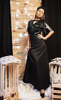 Вечернее длинное платье верх паетки низ  коттон мемори