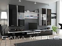 Мебельная стенка DREAM II белый / черный глянец