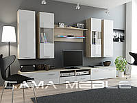 Мебельная стенка DREAM II дуб сонома / белый глянец