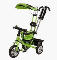 Велосипед детский 3-х колесный со съёмным козырьком Mini Trike зеленый