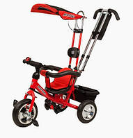 Велосипед детский 3-х колесный с усиленной ручкой Mini Trike красный