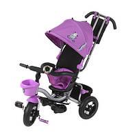 Велосипед детский трёхколесный с родительской ручкой Mini Trike фиолетовый