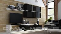 Мебельная стенка GOYA черный / черный глянец / белый