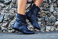 Женские стильные кожаные ботиночки на шнуровке. АРТ-0124