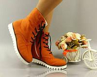 Женские стильные ультрамодные кашемировые ботиночки на шнуровке. АРТ-0131