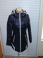 Полу-пальто женское Kapre 1505 темно-синий/ молочный