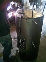 Аккумулятор тепла: емкость 400 литров, два стальных теплообменника