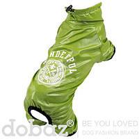 Комбинезон-пыльник для собак DOBAZLIMITED, оливковый, размер S