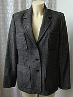 Пиджак женский теплый шерсть осень-зима бренд Laura Clement р.50 4450